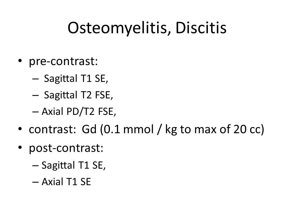 Osteomyelitis, Discitis
