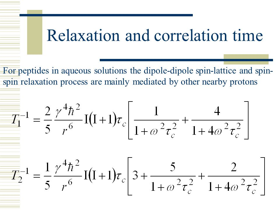 Relaxation and correlation time