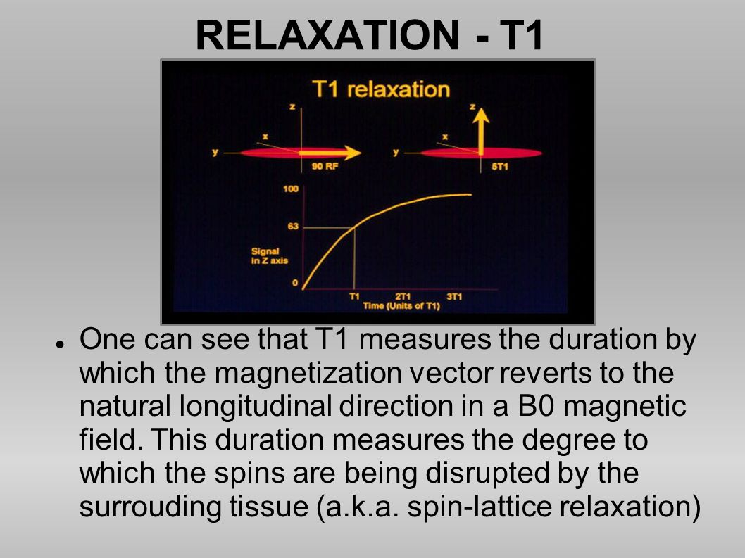 RELAXATION - T1