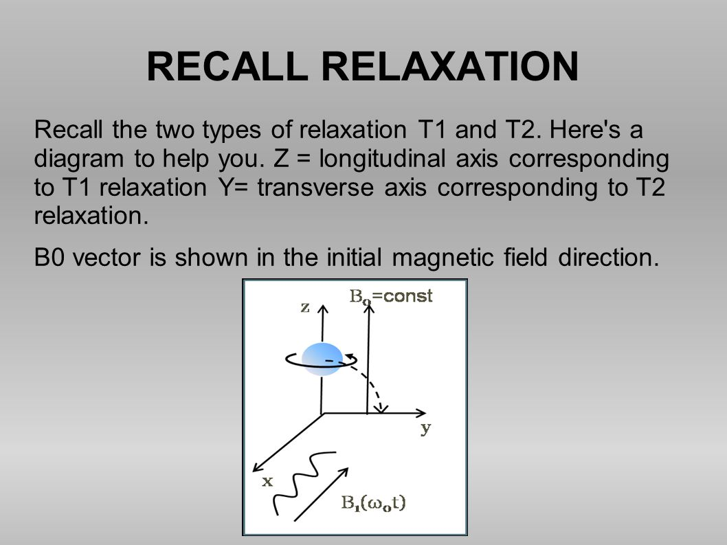 RECALL RELAXATION