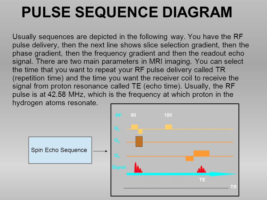 PULSE SEQUENCE DIAGRAM