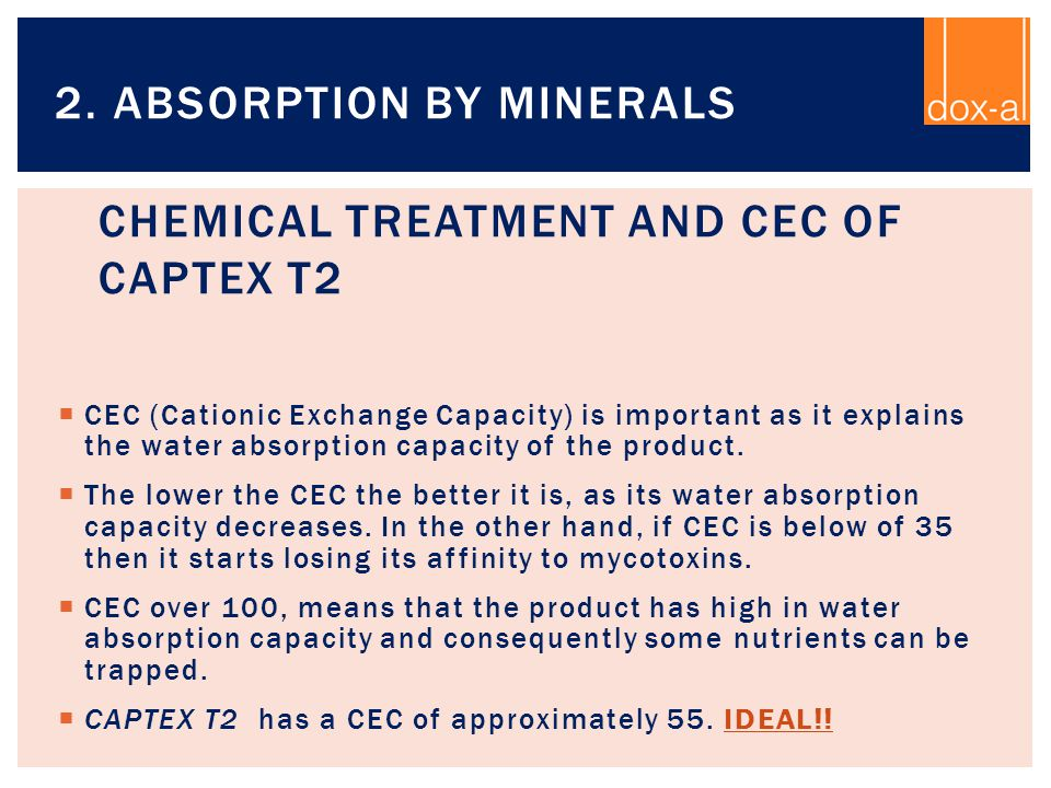 Chemical Treatment and CEC of CAPTEX T2
