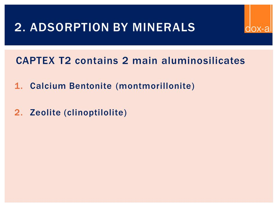 2. Adsorption by minerals