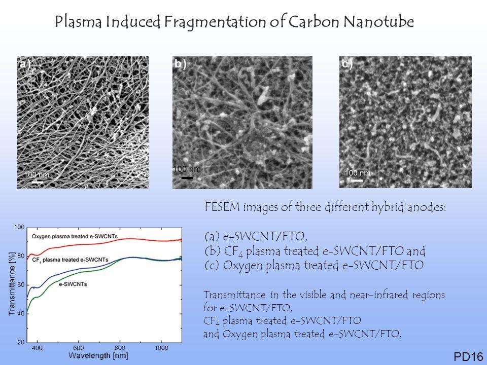 Plasma Induced Fragmentation of Carbon Nanotube