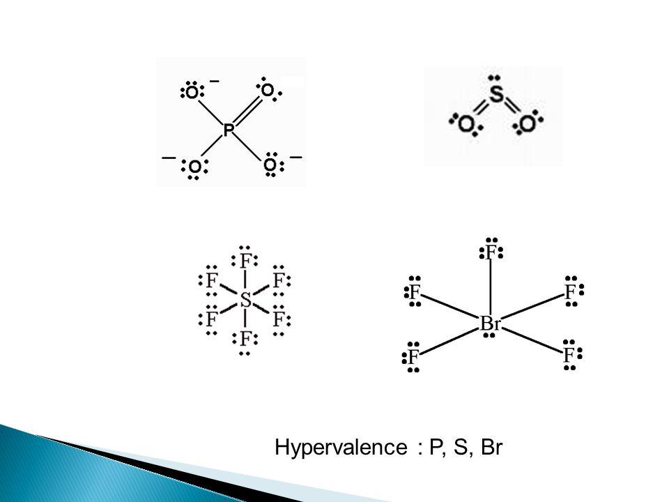 Hypervalence : P, S, Br