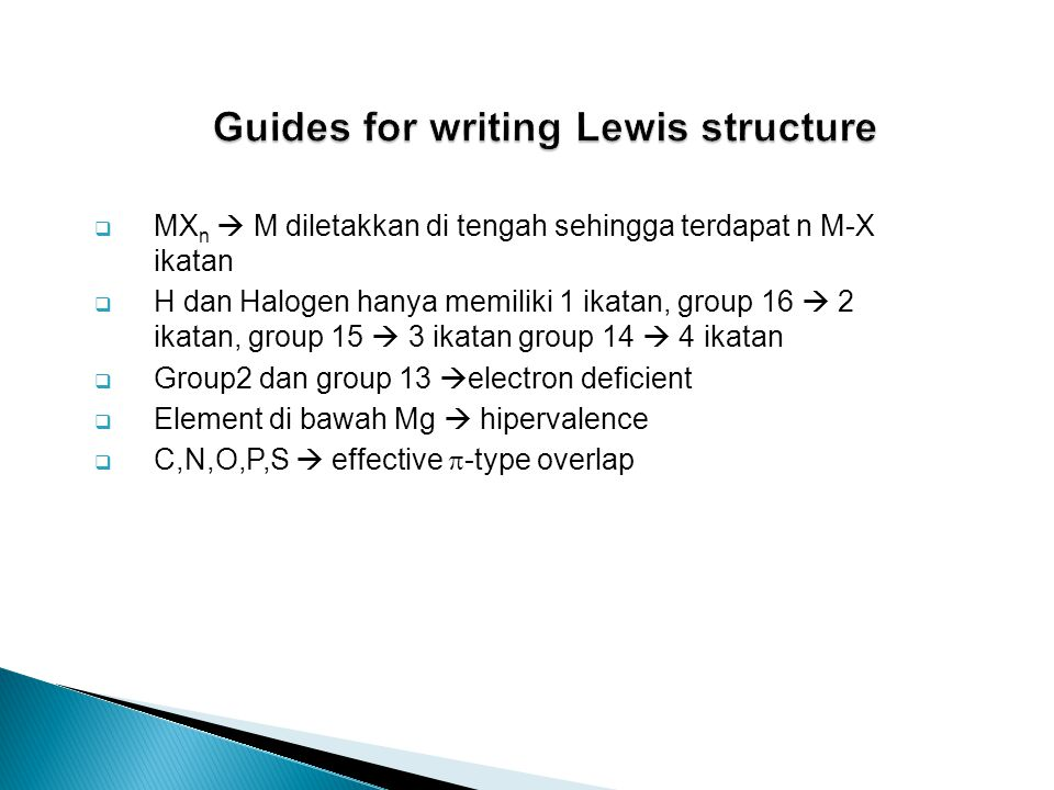 Guides for writing Lewis structure