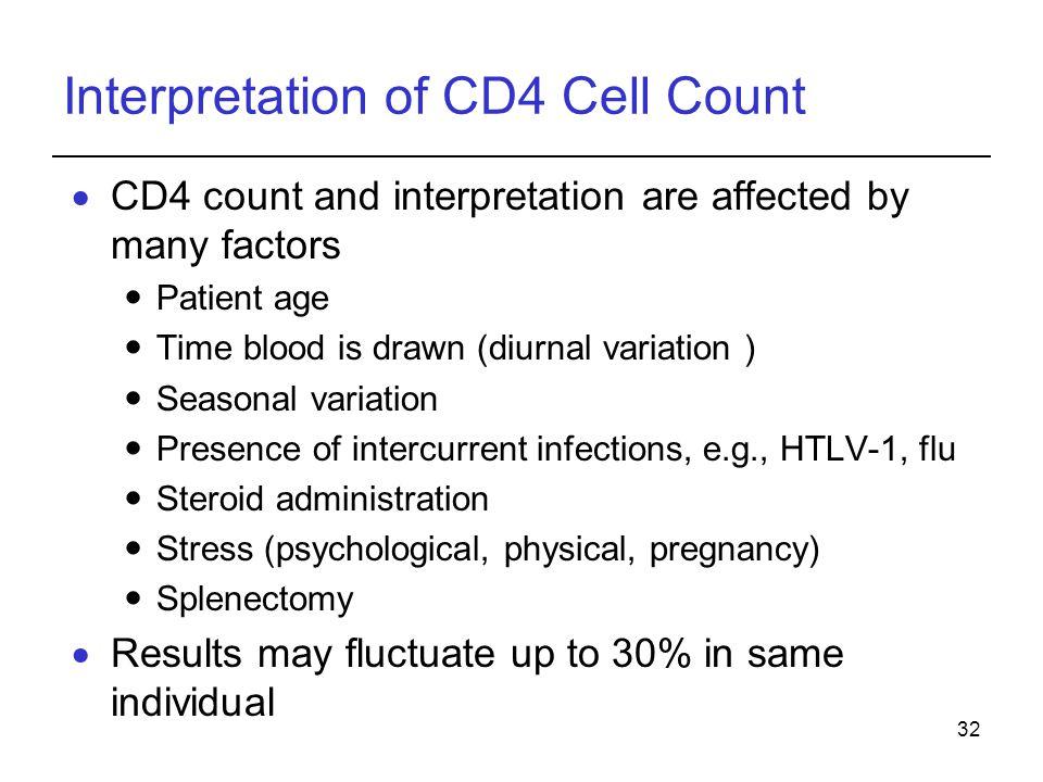 Interpretation of CD4 Cell Count