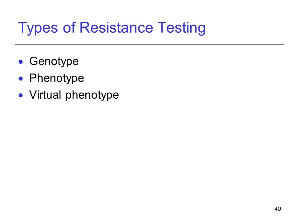 Types of Resistance Testing