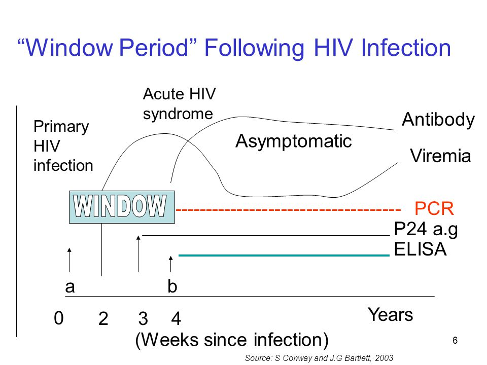Window Period Following HIV Infection