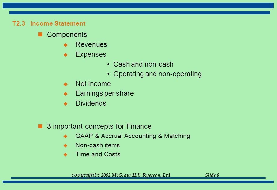 3 important concepts for Finance