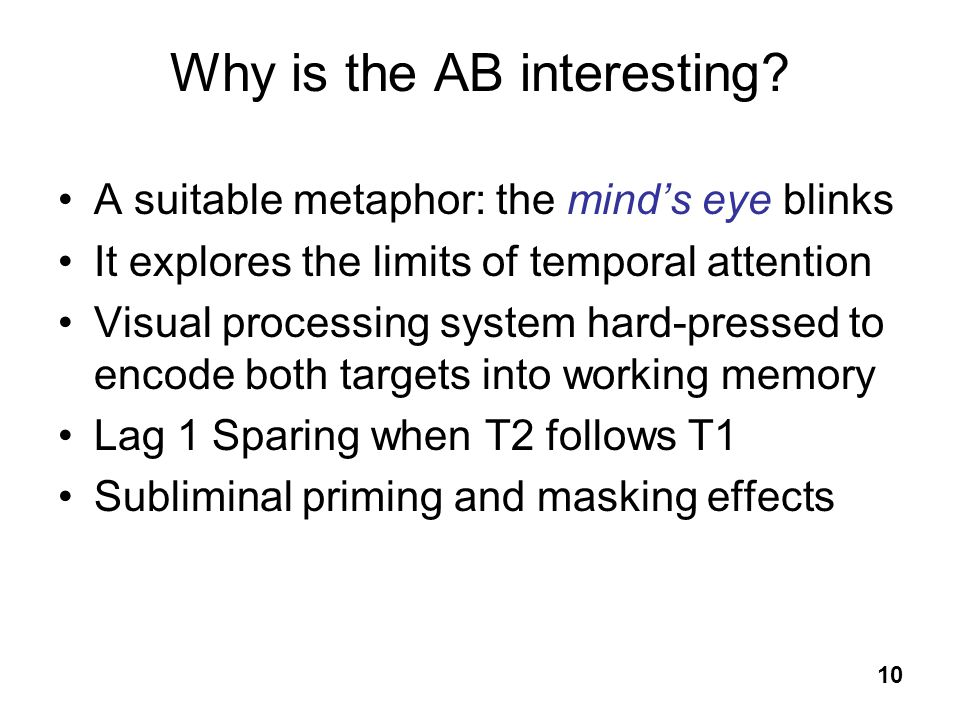 Why is the AB interesting