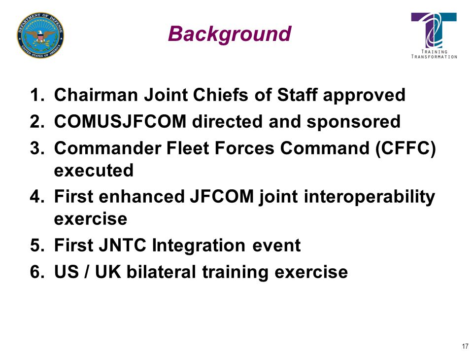 Background Chairman Joint Chiefs of Staff approved