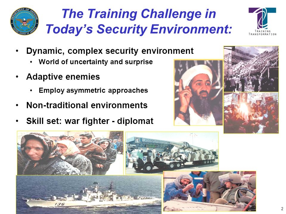 The Training Challenge in Today's Security Environment: