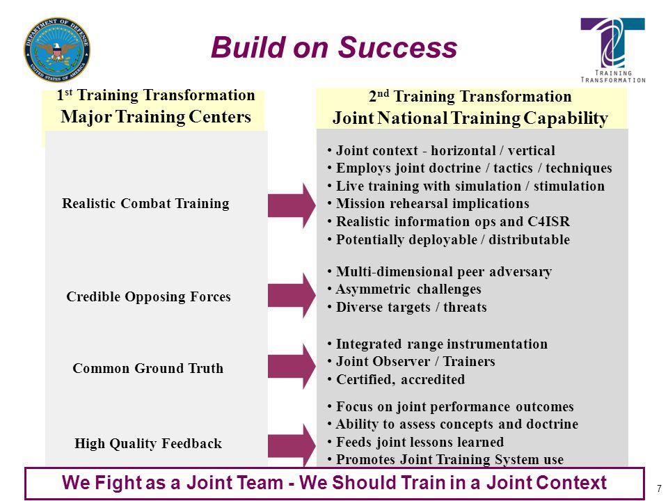 Build on Success Major Training Centers