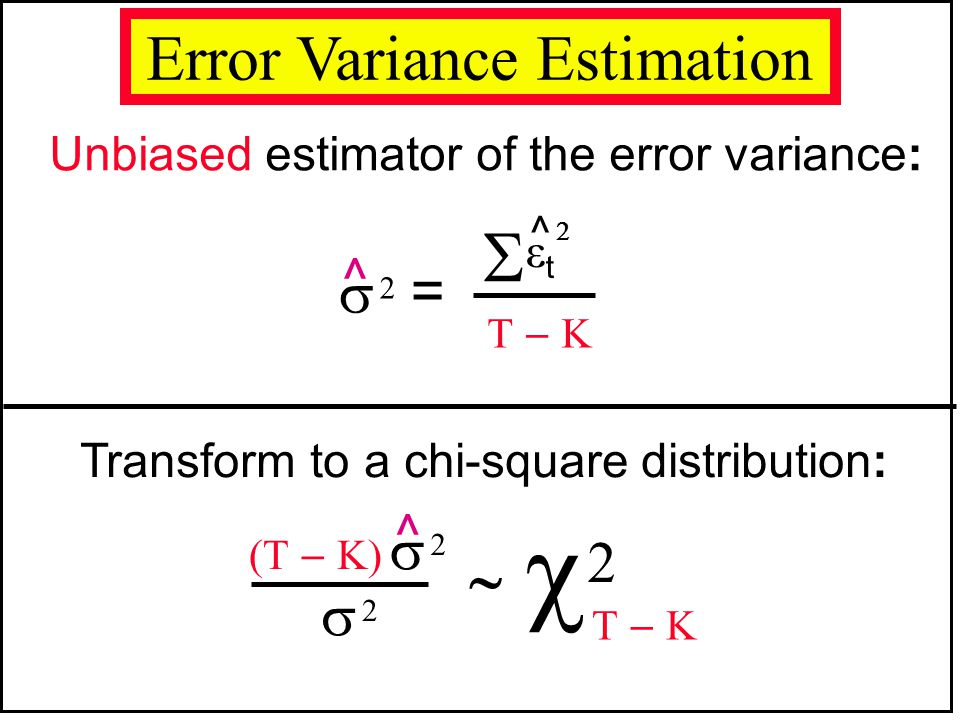 Error Variance Estimation