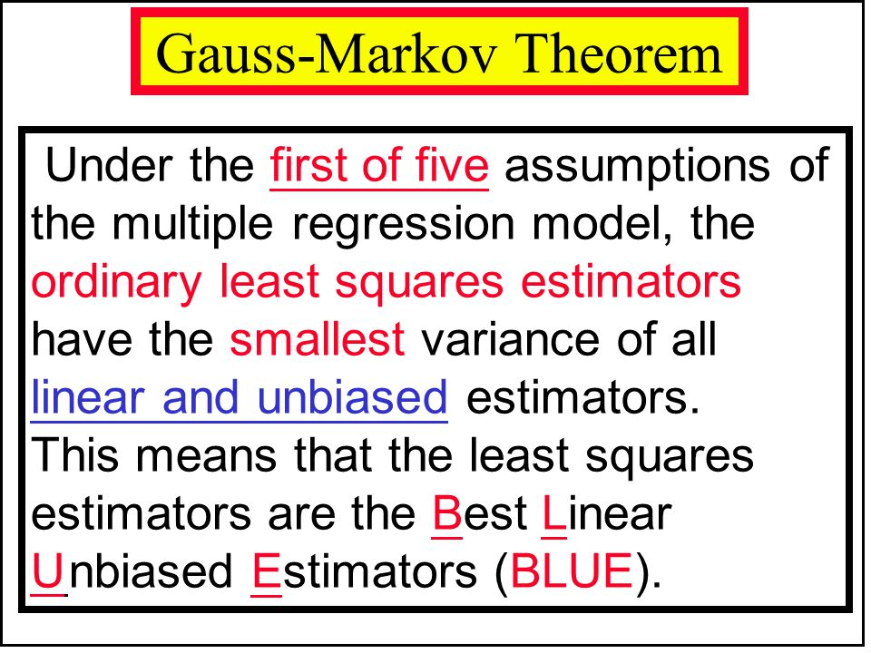 Gauss-Markov Theorem