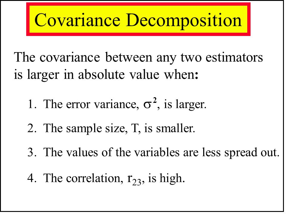 Covariance Decomposition