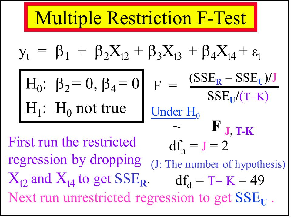 Multiple Restriction F-Test