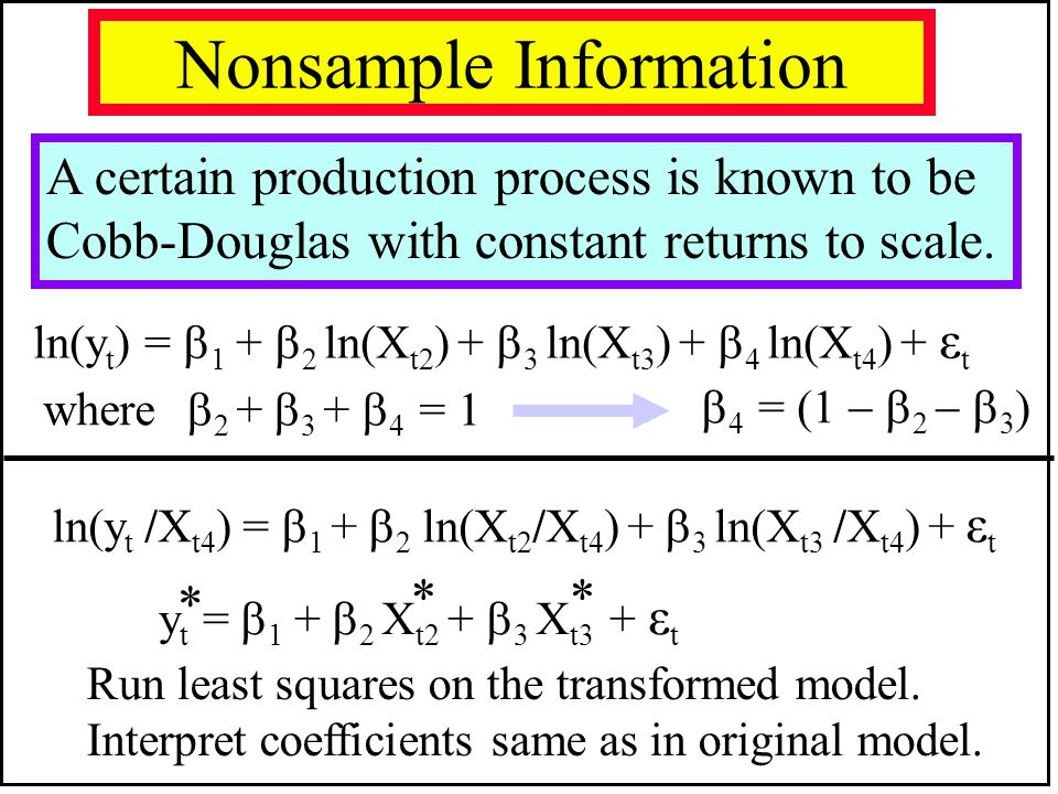 Nonsample Information