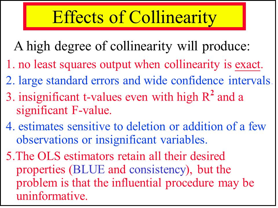 Effects of Collinearity