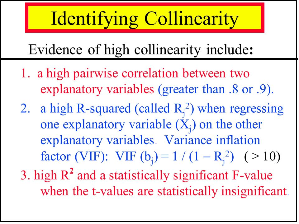 Identifying Collinearity