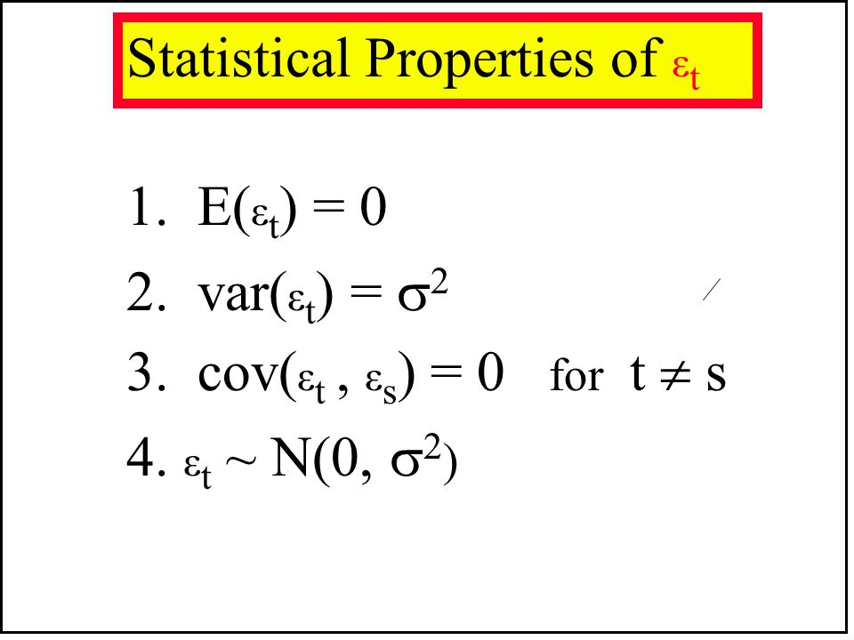 Statistical Properties of εt