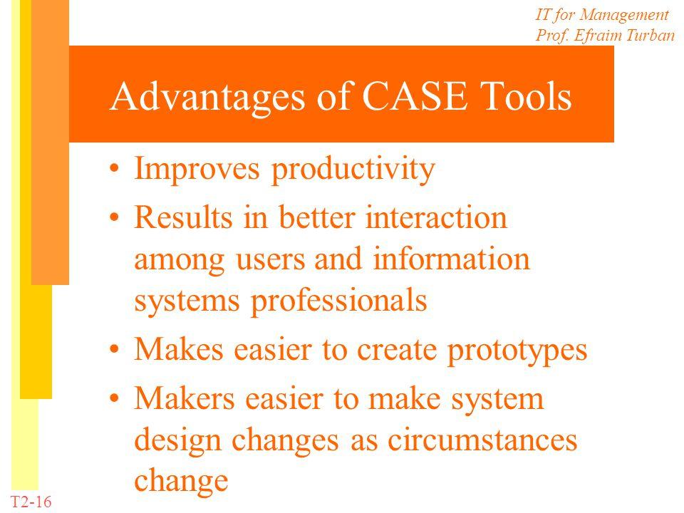 Advantages of CASE Tools