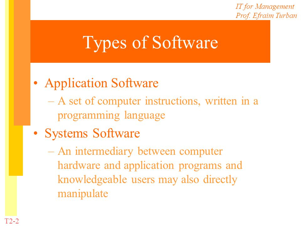 Types of Software Application Software Systems Software