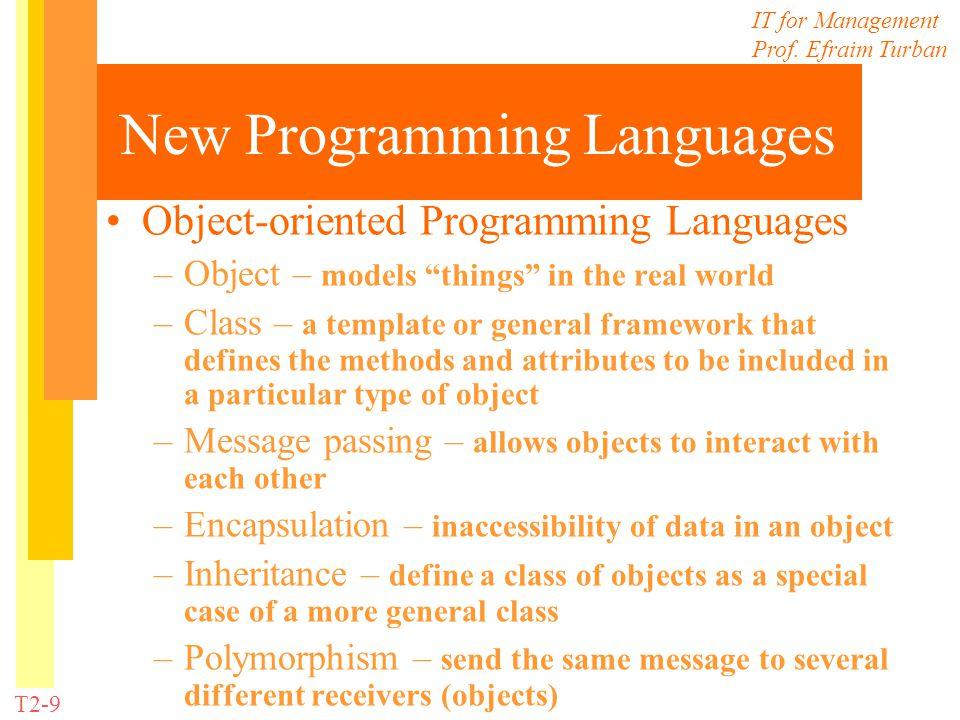 New Programming Languages