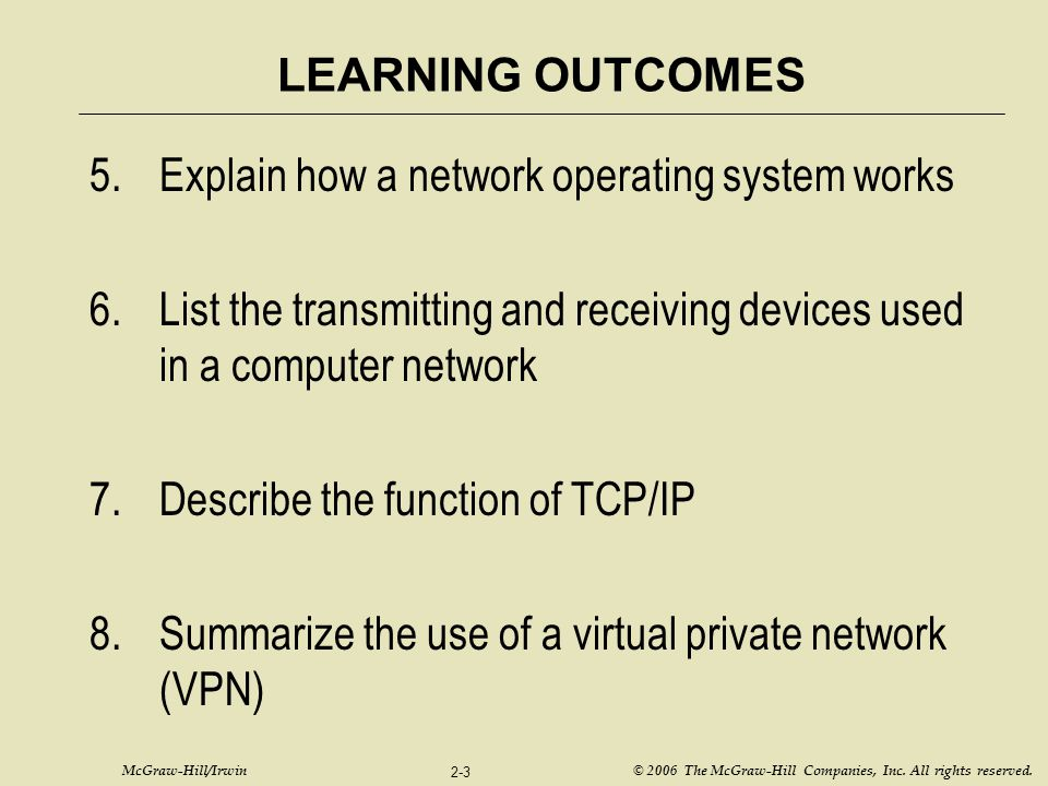Explain how a network operating system works