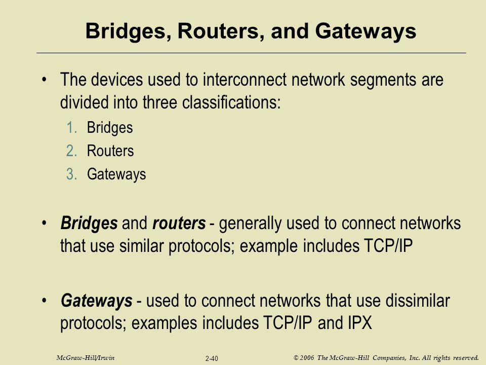 Bridges, Routers, and Gateways