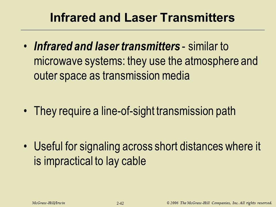 Infrared and Laser Transmitters