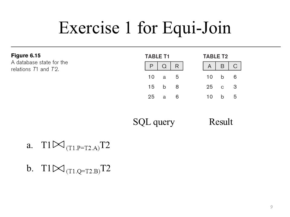 Exercise 1 for Equi-Join