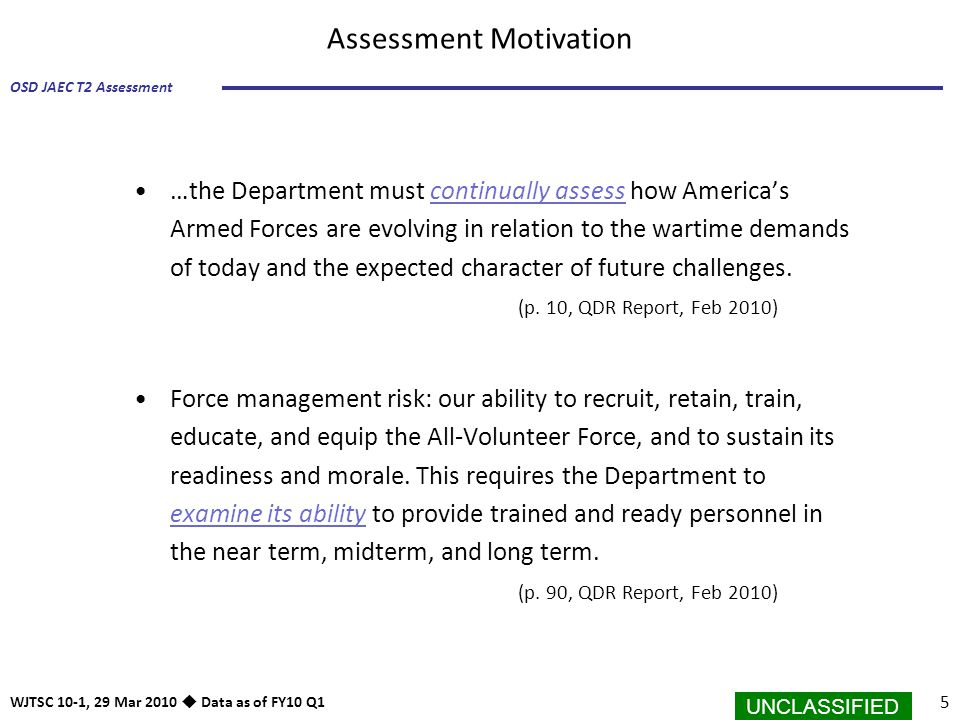 Assessment Motivation