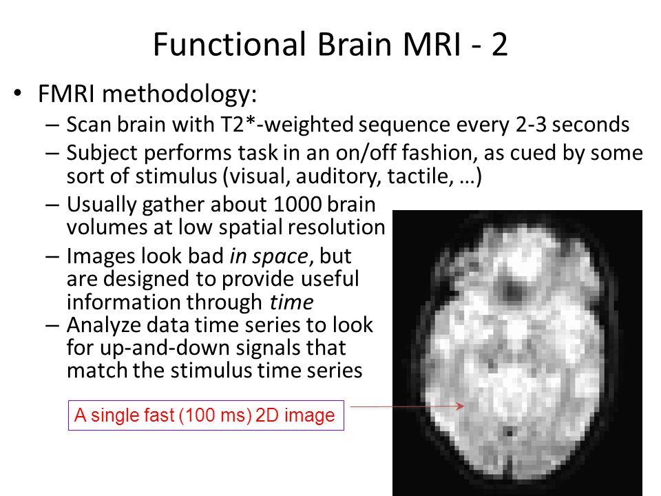Functional Brain MRI - 2 FMRI methodology: