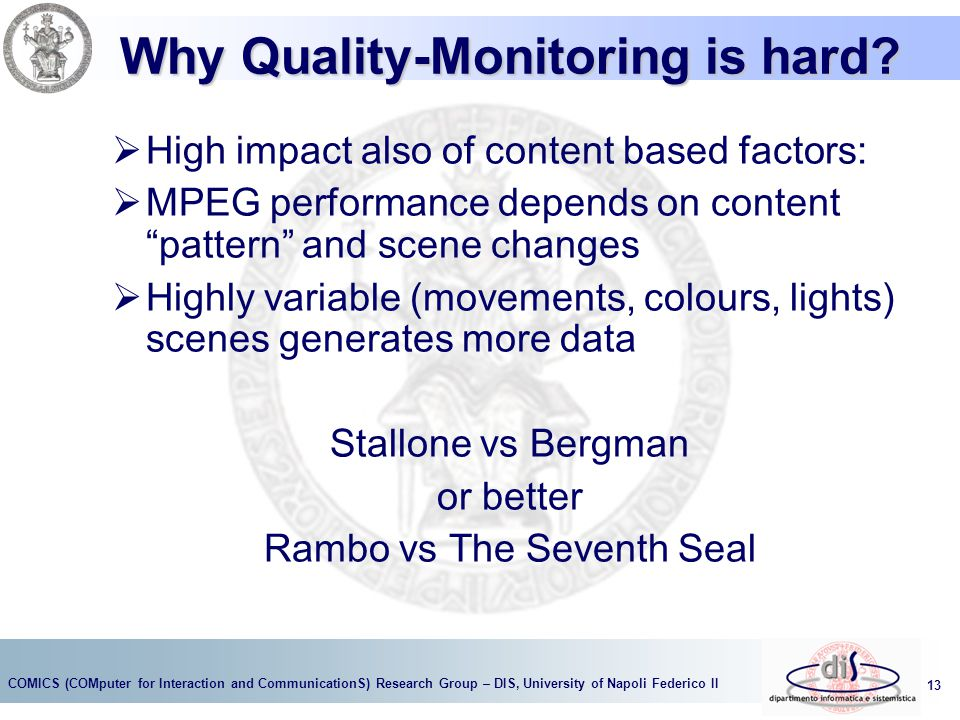 Why Quality-Monitoring is hard