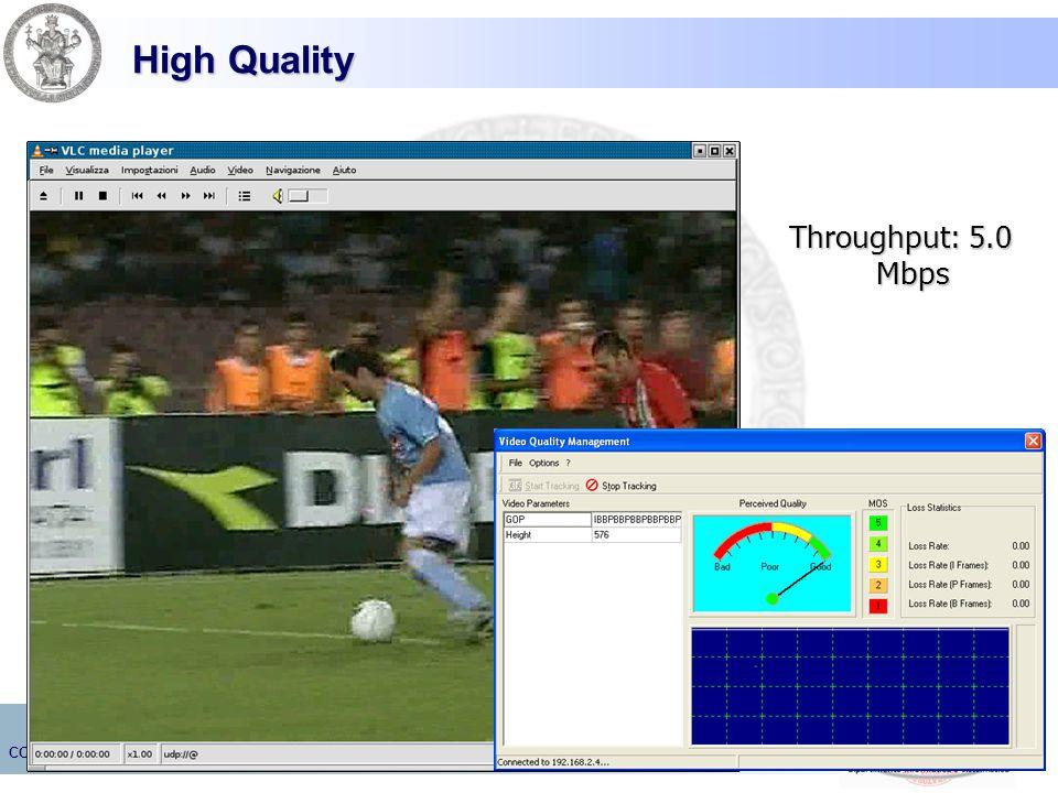 High Quality Throughput: 5.0 Mbps