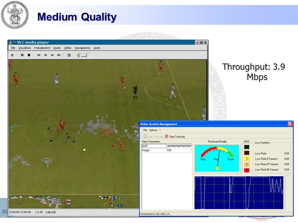 Medium Quality Throughput: 3.9 Mbps