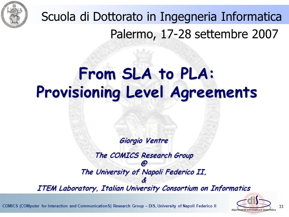 From SLA to PLA: Provisioning Level Agreements