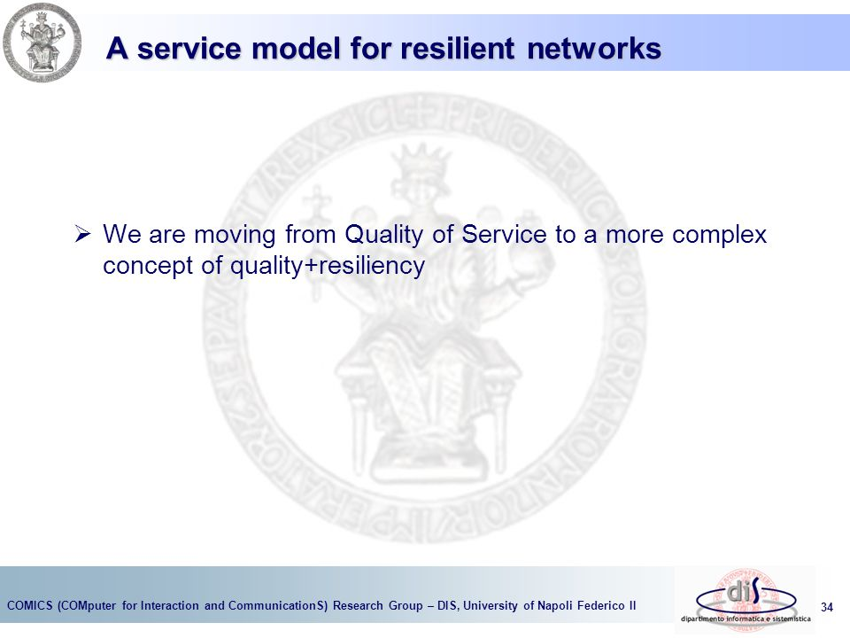 A service model for resilient networks