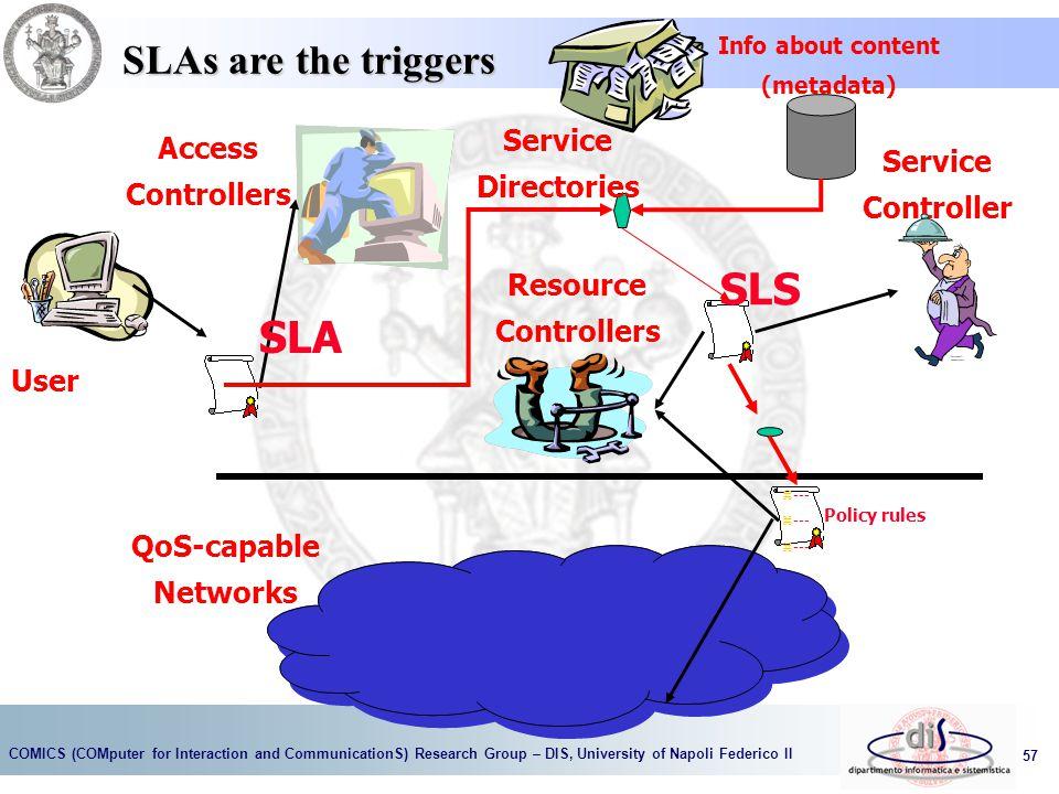 SLS SLA SLAs are the triggers Service Access Directories Service