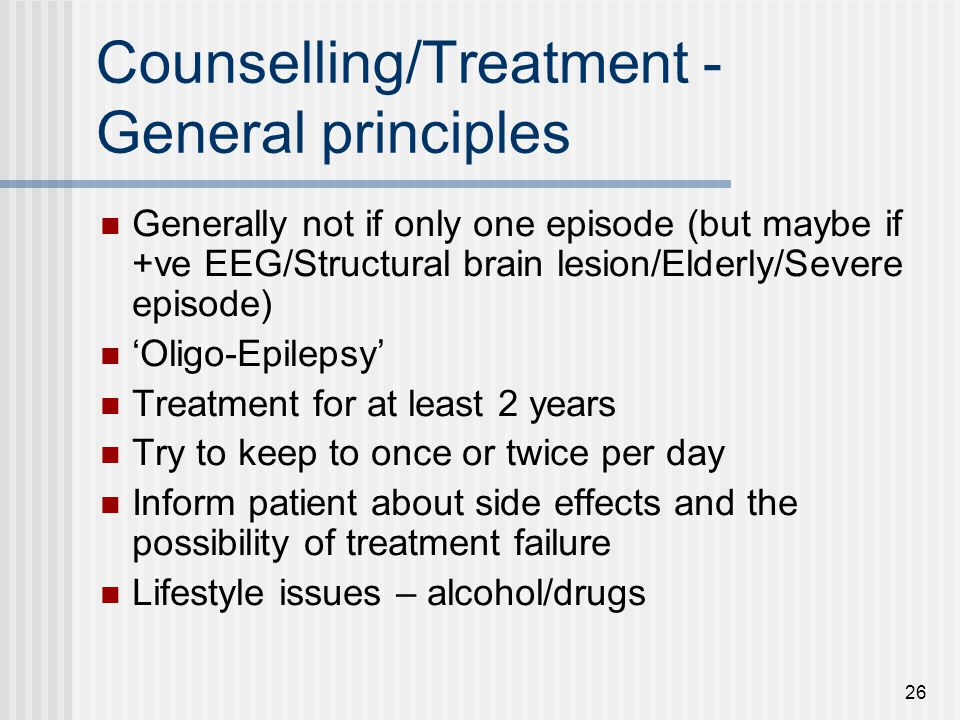 Counselling/Treatment - General principles