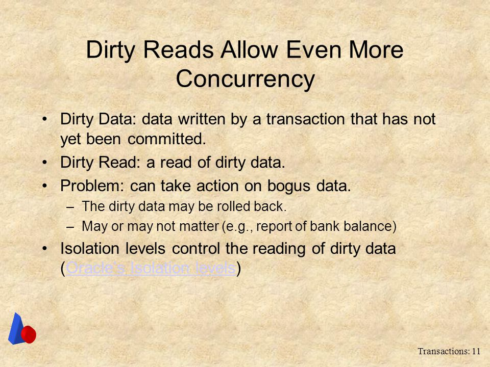Dirty Reads Allow Even More Concurrency