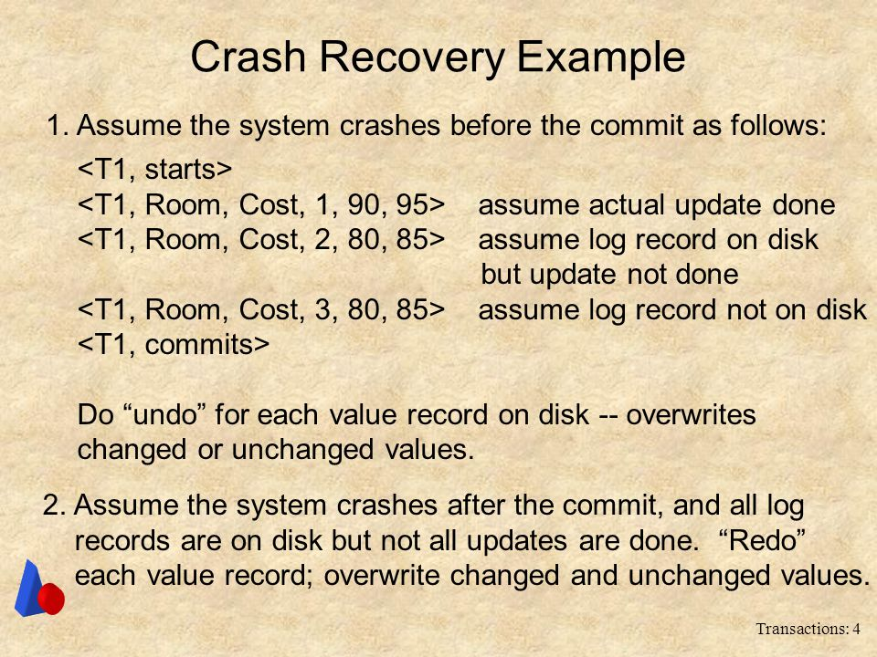 Crash Recovery Example
