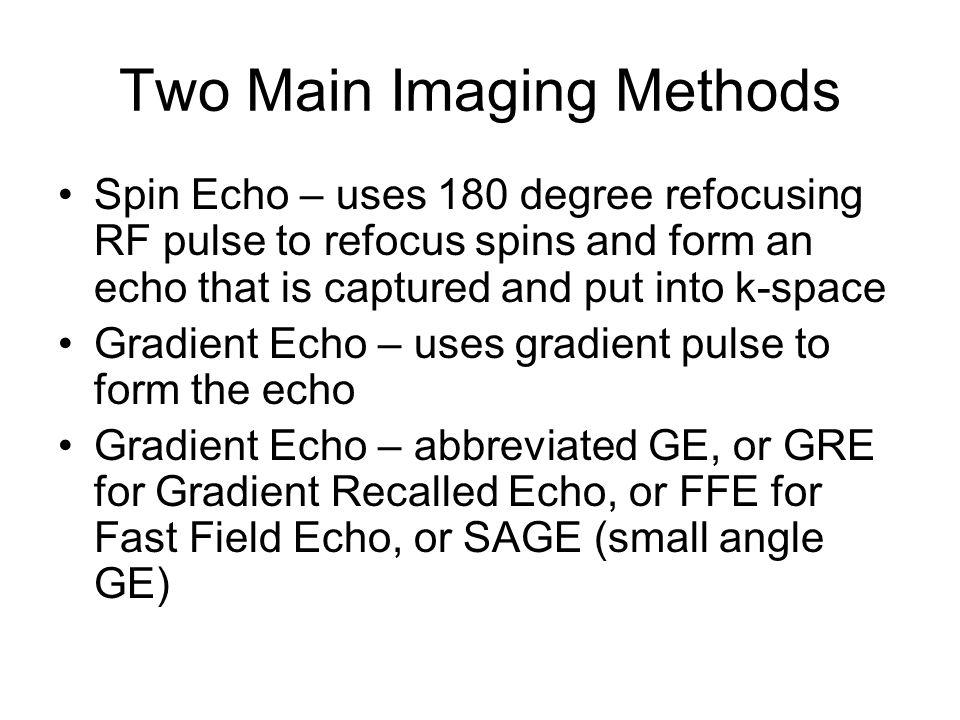 Two Main Imaging Methods