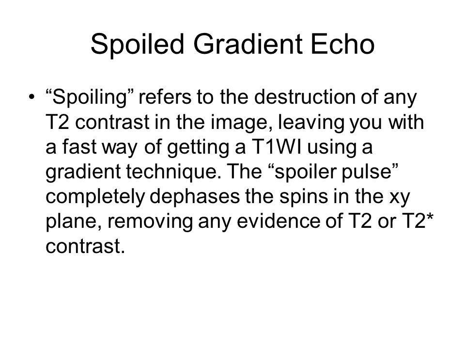 Spoiled Gradient Echo