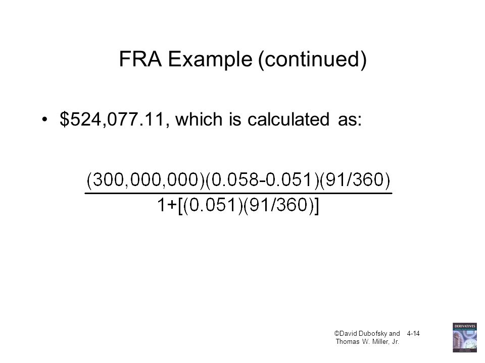 FRA Example (continued)