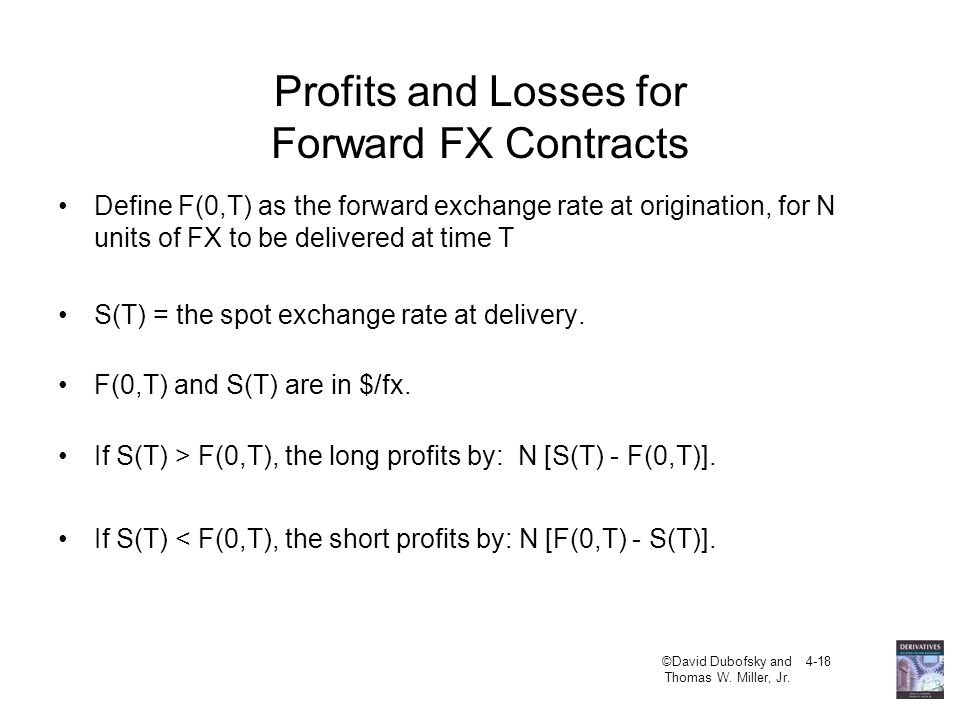 Profits and Losses for Forward FX Contracts
