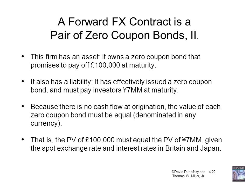 A Forward FX Contract is a Pair of Zero Coupon Bonds, II.