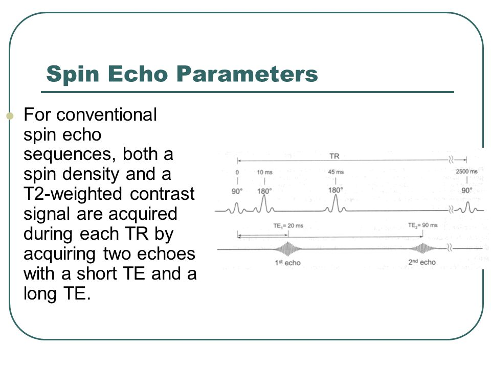 Spin Echo Parameters